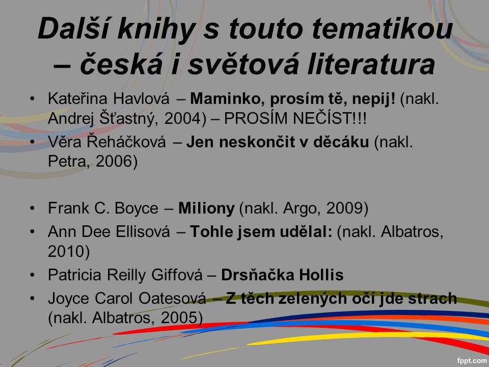 Další knihy s touto tematikou – česká i světová literatura Kateřina Havlová – Maminko, prosím tě, nepij.