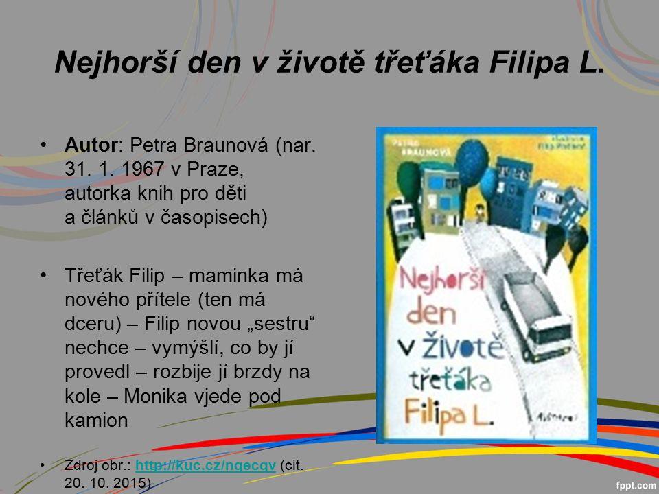 Nejhorší den v životě třeťáka Filipa L.Autor: Petra Braunová (nar.