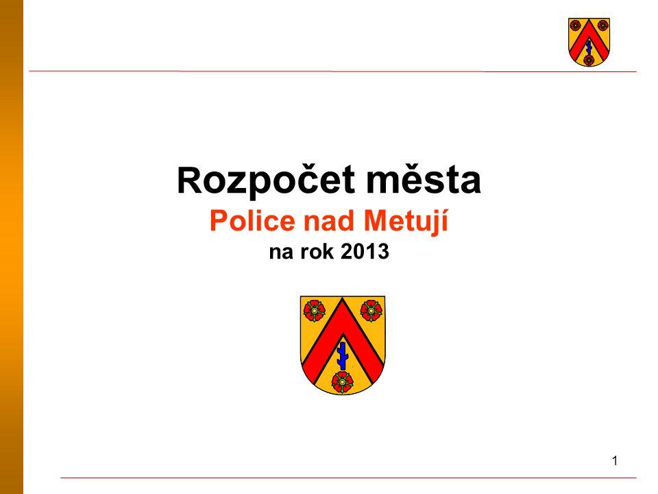 1 R ozpočet města Police nad Metují na rok 2013