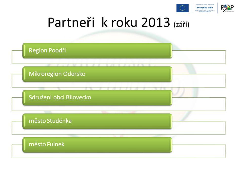 Partneři k roku 2013 (září) Region PoodříMikroregion OderskoSdružení obcí Bíloveckoměsto Studénkaměsto Fulnek