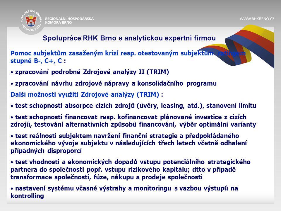 Spolupráce RHK Brno s analytickou expertní firmou Pomoc subjektům zasaženým krizí resp.