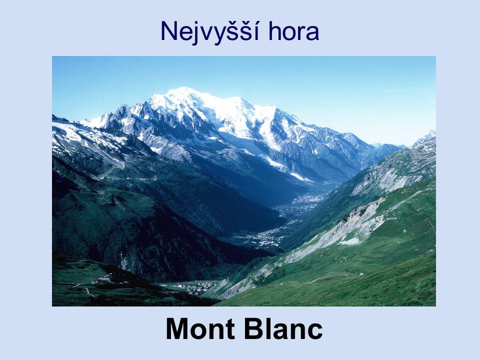 Nejvyšší hora Mont Blanc