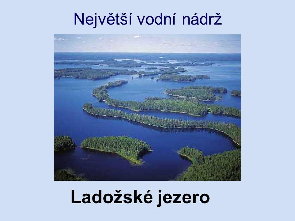 Největší vodní nádrž Ladožské jezero