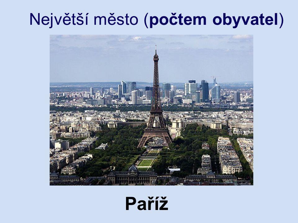 Největší město (počtem obyvatel) Paříž