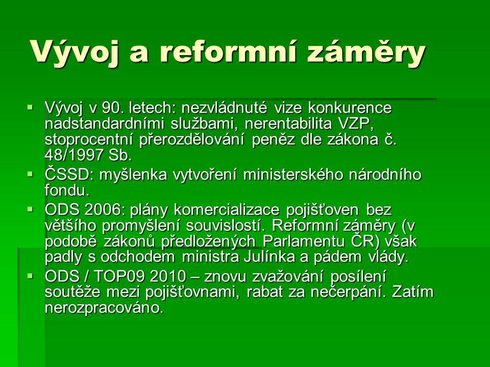Vývoj a reformní záměry  Vývoj v 90.