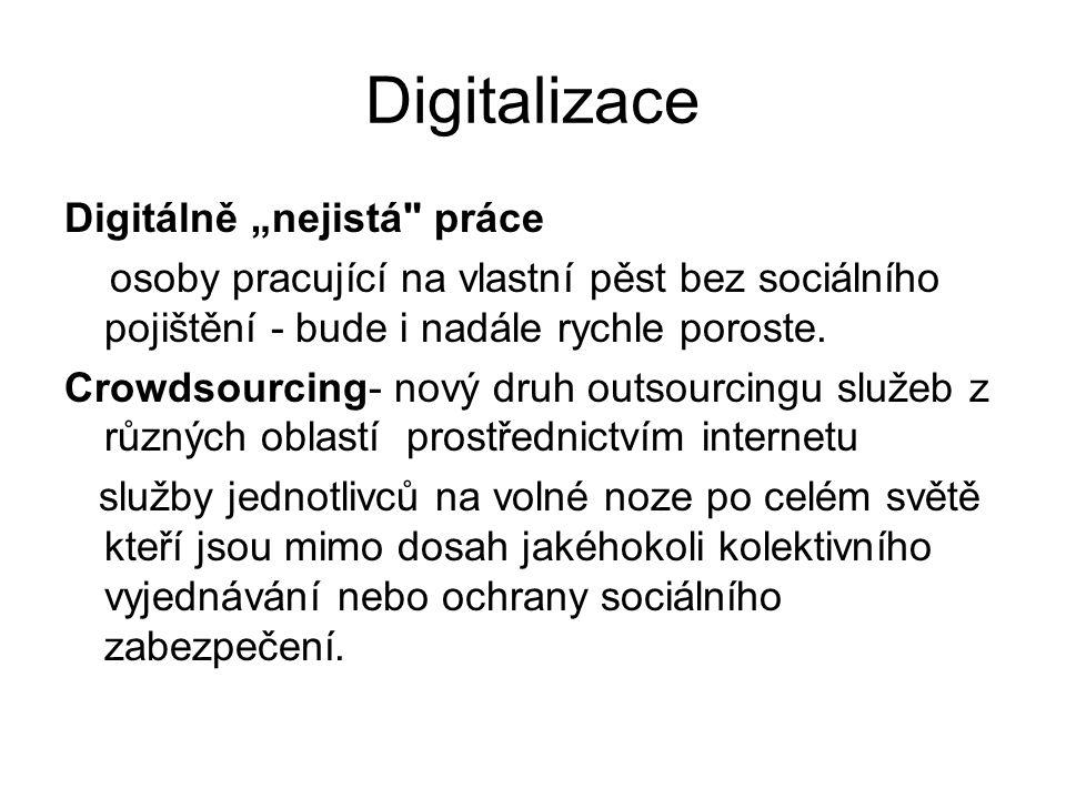 """Digitalizace Digitálně """"nejistá"""