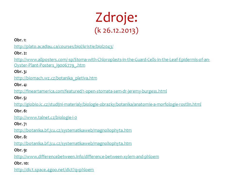 Zdroje: (k 26.12.2013) Obr. 1: http://plato.acadiau.ca/courses/biol/kristie/biol2043/ Obr.