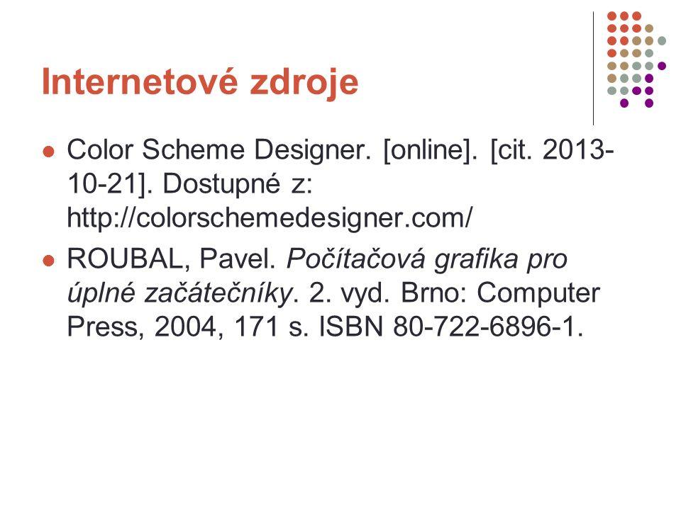 Internetové zdroje Color Scheme Designer. [online].