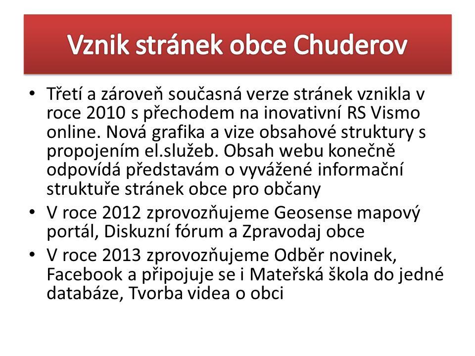 Třetí a zároveň současná verze stránek vznikla v roce 2010 s přechodem na inovativní RS Vismo online. Nová grafika a vize obsahové struktury s propoje