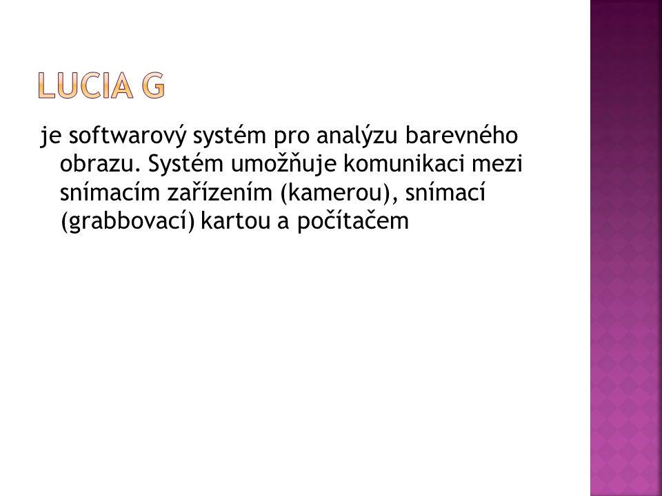 je softwarový systém pro analýzu barevného obrazu.