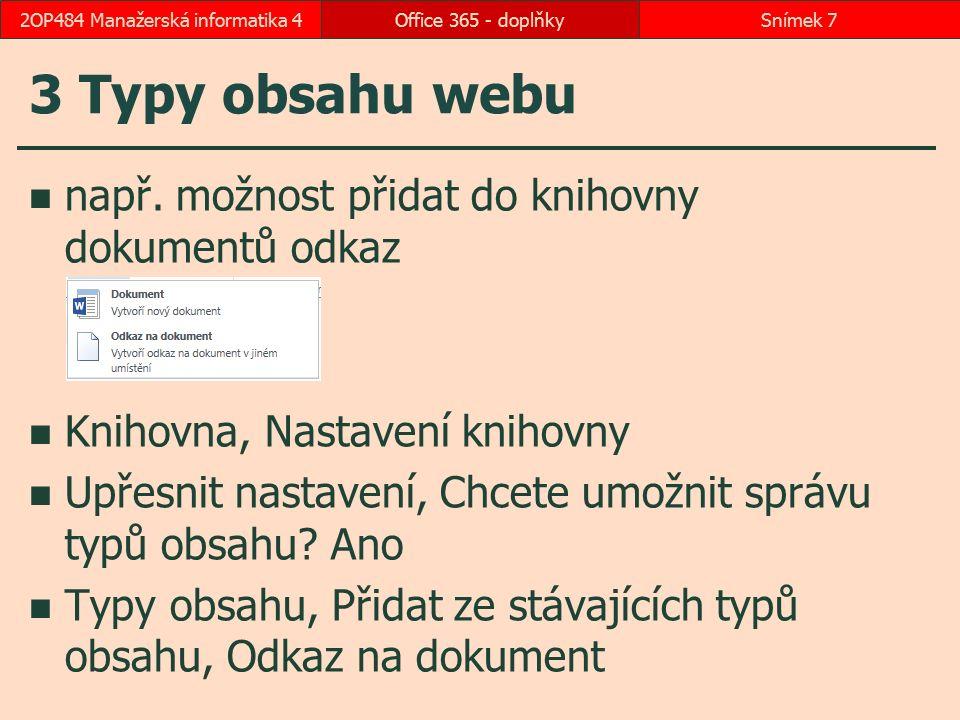 3 Typy obsahu webu např.