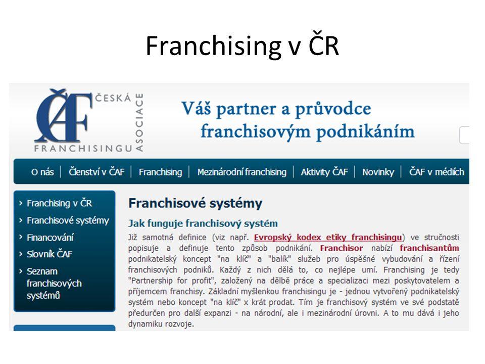 Franchising v ČR