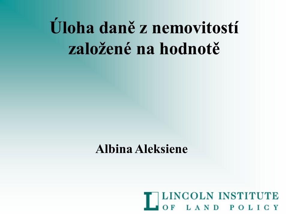 Úloha daně z nemovitostí založené na hodnotě Albina Aleksiene