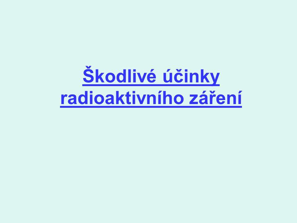 Škodlivé účinky radioaktivního záření