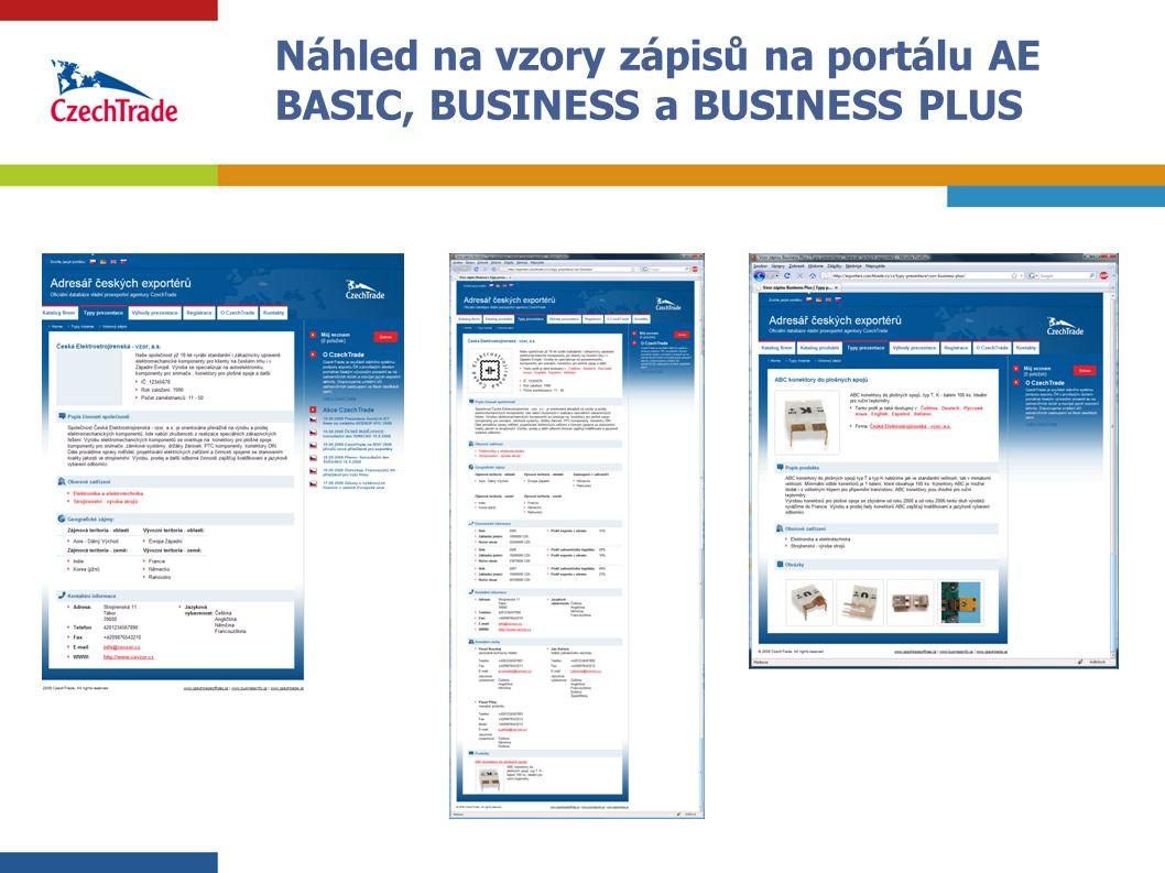 13 Náhled na vzory zápisů na portálu AE BASIC, BUSINESS a BUSINESS PLUS