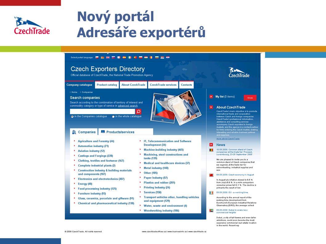 3 Nový portál Adresáře exportérů