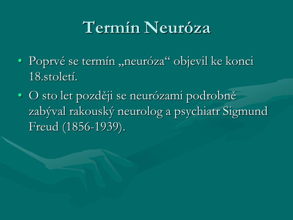 Definice Neuróza je duševní porucha při které pacient trpí stavy úzkosti, emoční tísně a podobně, která však - na rozdíl od psychózy - neohrožuje jeho duševní činnost.Neuróza je duševní porucha při které pacient trpí stavy úzkosti, emoční tísně a podobně, která však - na rozdíl od psychózy - neohrožuje jeho duševní činnost.duševní poruchaúzkostipsychózyduševní poruchaúzkostipsychózy V moderní psychologii je neuróza převážně vykládána jako duševní nerovnováha, způsobující psychický stres neboli duševní tíseň, nikterak však narušující schopnost racionálního myšlení (= psychóza).