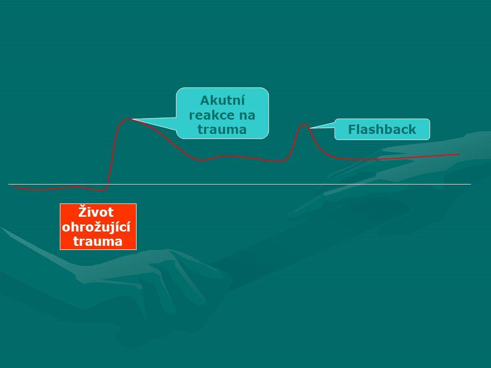 Flashback Akutní reakce na trauma Život ohrožující trauma