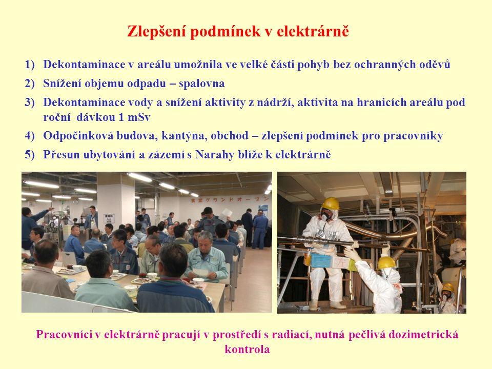 Zlepšení podmínek v elektrárně Pracovníci v elektrárně pracují v prostředí s radiací, nutná pečlivá dozimetrická kontrola 1)Dekontaminace v areálu umo
