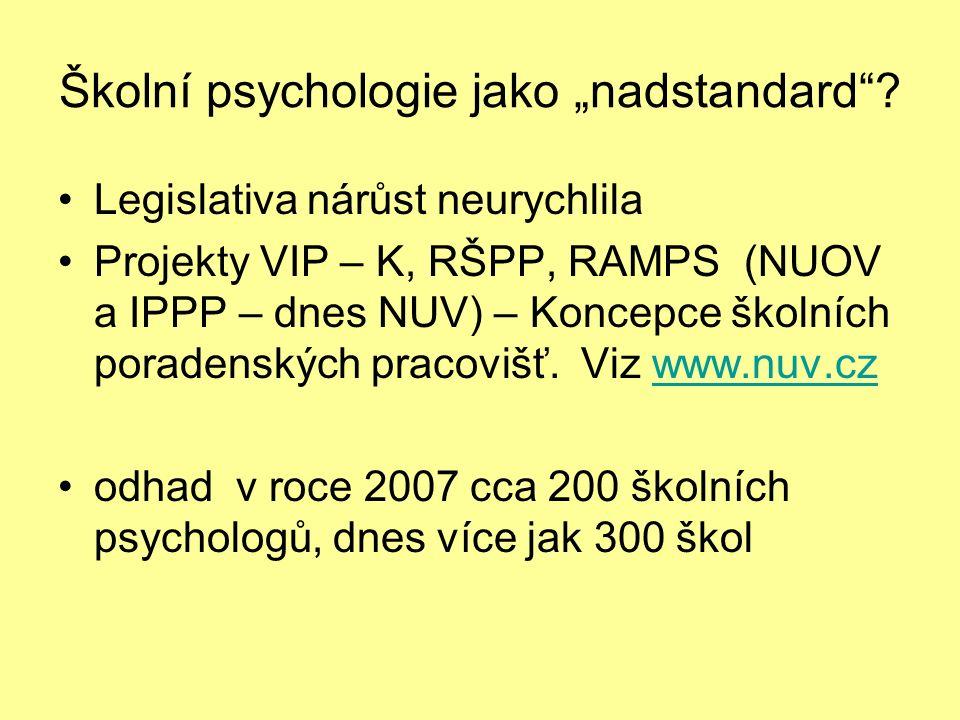"""Školní psychologie jako """"nadstandard ."""