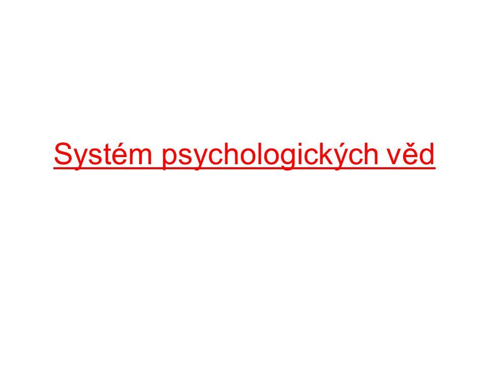 Psychologické disciplíny: a)Vědy základní – studují zákonitosti duševna převážně (ale nejenom) teoreticky b)Vědy užité – studují duševní jevy převážně (ale nejenom) se zřetelem k potřebám praxe