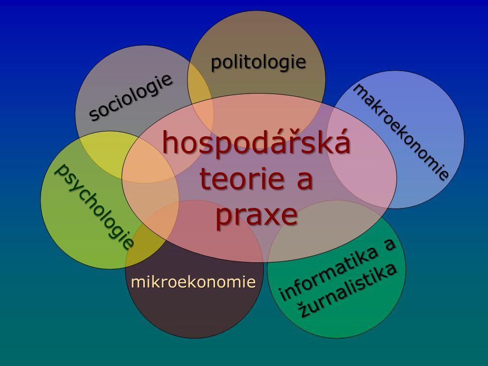hospodářská teorie a praxe politologie makroekonomie sociologie informatika a žurnalistika mikroekonomie psychologie