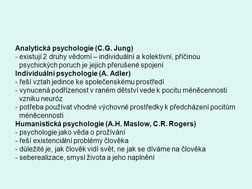 Analytická psychologie (C.G.