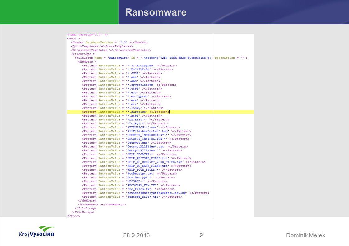 Dominik Marek928.9.2016 Ransomware