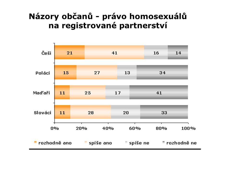 Názory občanů - právo homosexuálů na registrované partnerství