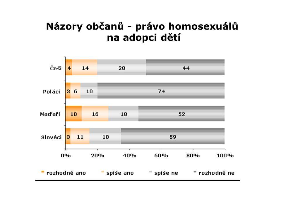 Názory občanů - právo homosexuálů na adopci dětí