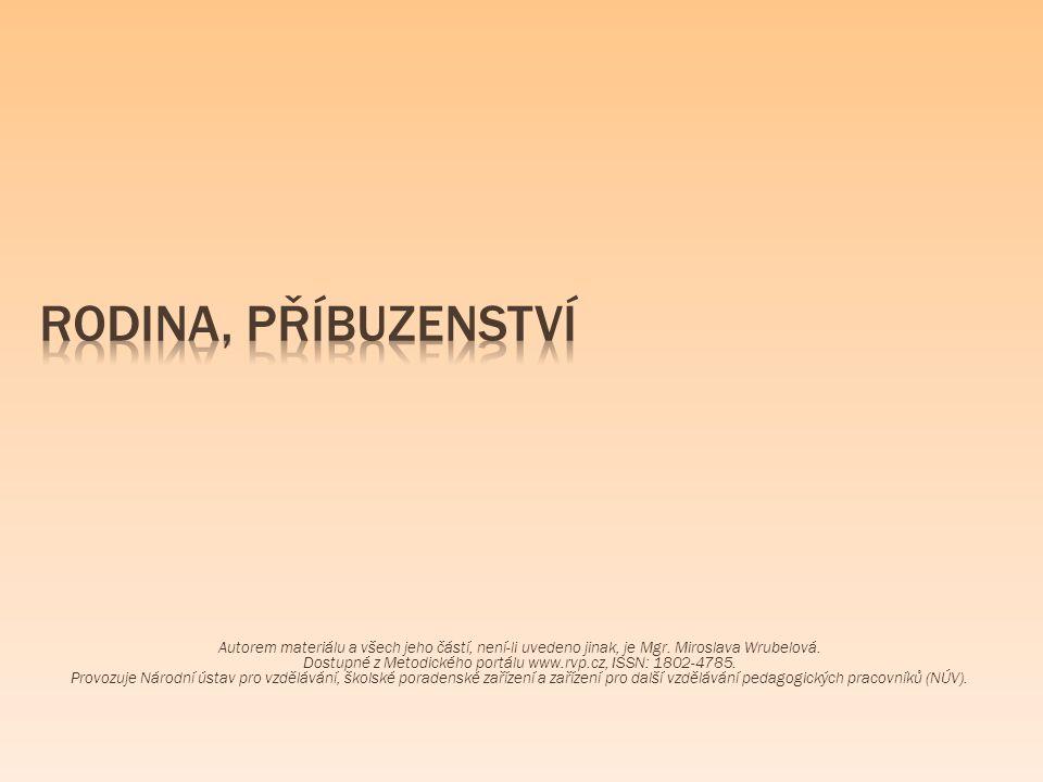 Autorem materiálu a všech jeho částí, není-li uvedeno jinak, je Mgr. Miroslava Wrubelová. Dostupné z Metodického portálu www.rvp.cz, ISSN: 1802-4785.