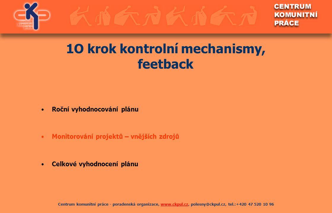 Centrum komunitní práce - poradenská organizace, www.ckpul.cz, polesny@ckpul.cz, tel.:+420 47 520 10 96www.ckpul.cz 1O krok kontrolní mechanismy, feet