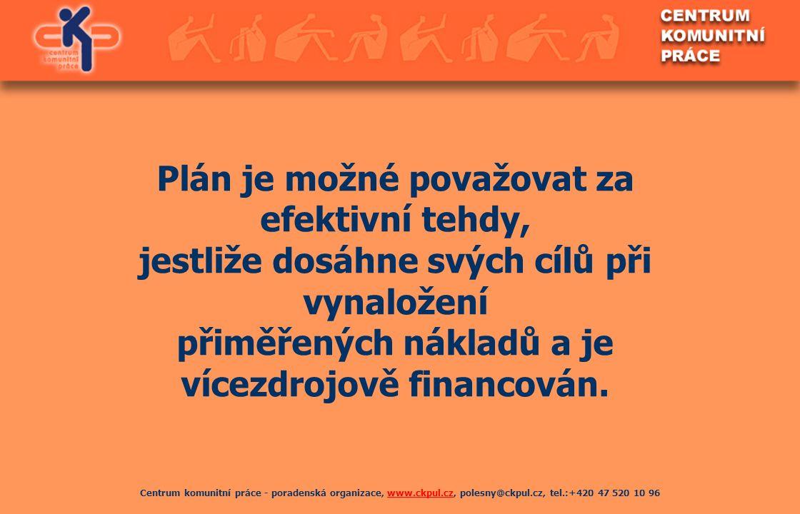 Centrum komunitní práce - poradenská organizace, www.ckpul.cz, polesny@ckpul.cz, tel.:+420 47 520 10 96www.ckpul.cz Plán je možné považovat za efektiv