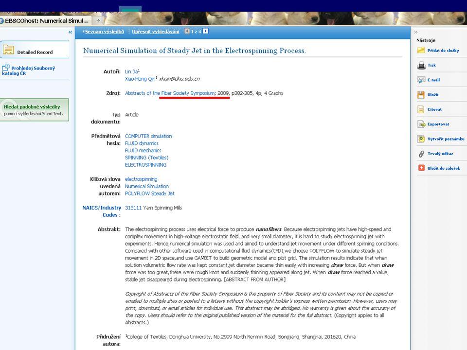 Anotace vybraného článku se základními bibliografickými údaji (ty je třeba v žádosti o full-text nutné všechny uvést.