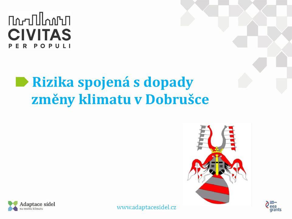 www.adaptacesidel.cz Rizika spojená s dopady změny klimatu v Dobrušce