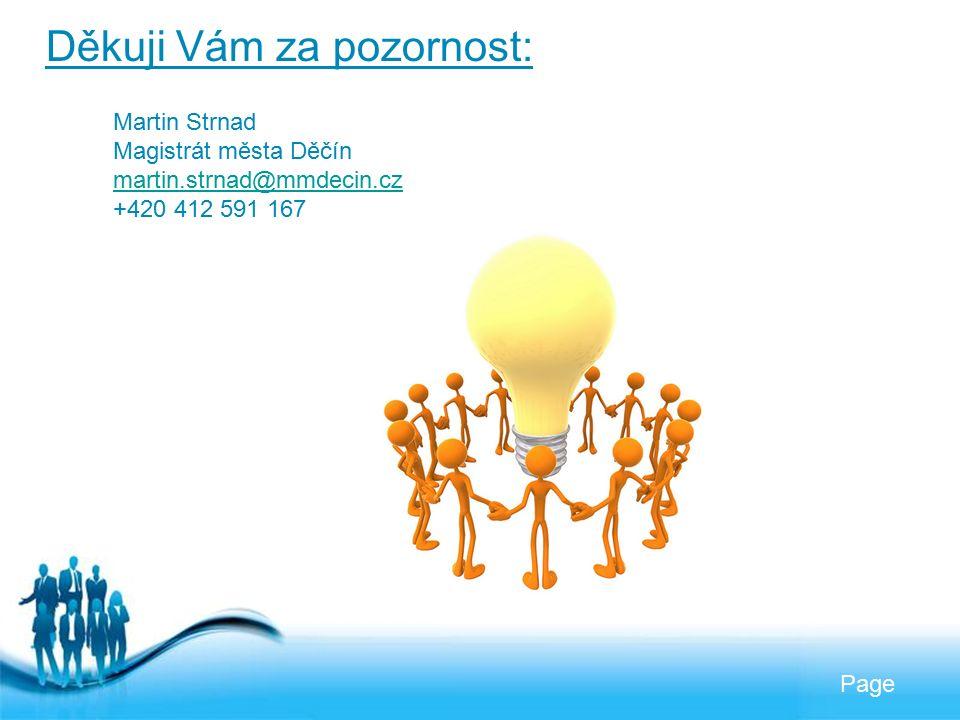 Free Powerpoint Templates Page Děkuji Vám za pozornost: Martin Strnad Magistrát města Děčín martin.strnad@mmdecin.cz +420 412 591 167
