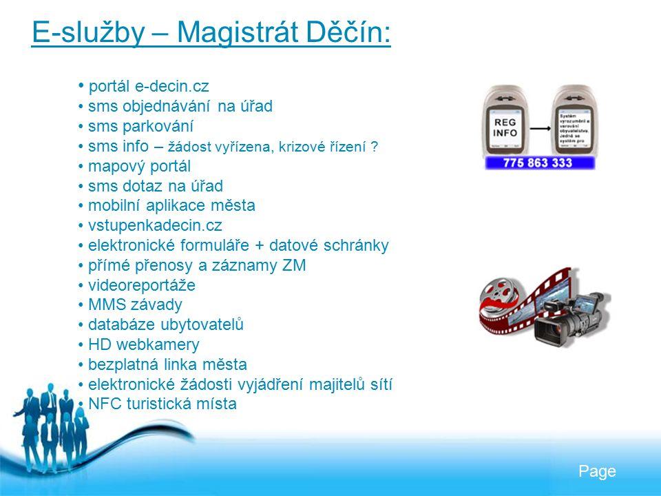 Free Powerpoint Templates Page E-služby – Magistrát Děčín: portál e-decin.cz sms objednávání na úřad sms parkování sms info – žádost vyřízena, krizové