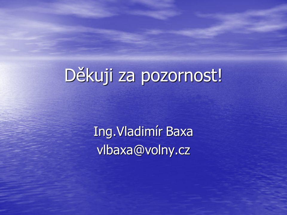 Děkuji za pozornost! Ing.Vladimír Baxa vlbaxa@volny.cz