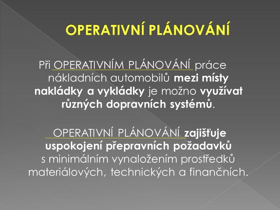  1.Vyjmenuj druhy zásilek. 2.Popiš podklady pro operativní plány.