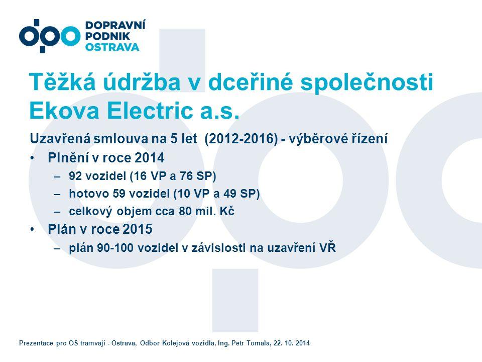 Těžká údržba v dceřiné společnosti Ekova Electric a.s.