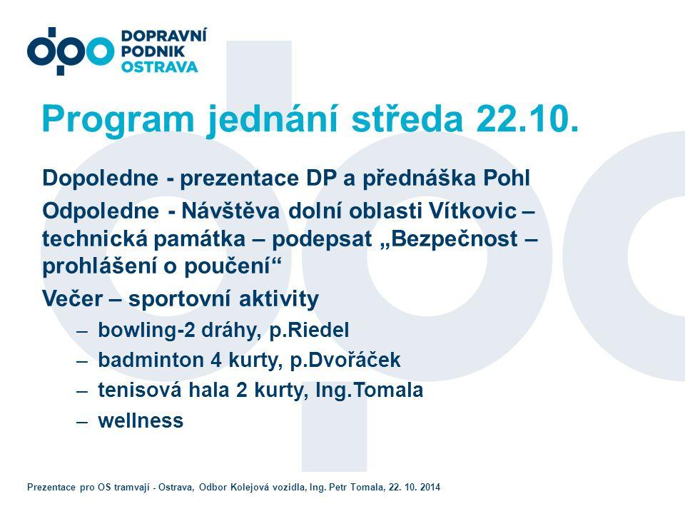 Program jednání středa 22.10.