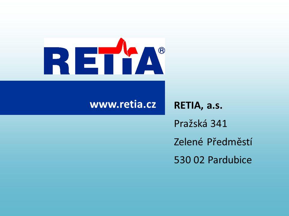 RETIA, a.s. Pražská 341 Zelené Předměstí 530 02 Pardubice www.retia.cz