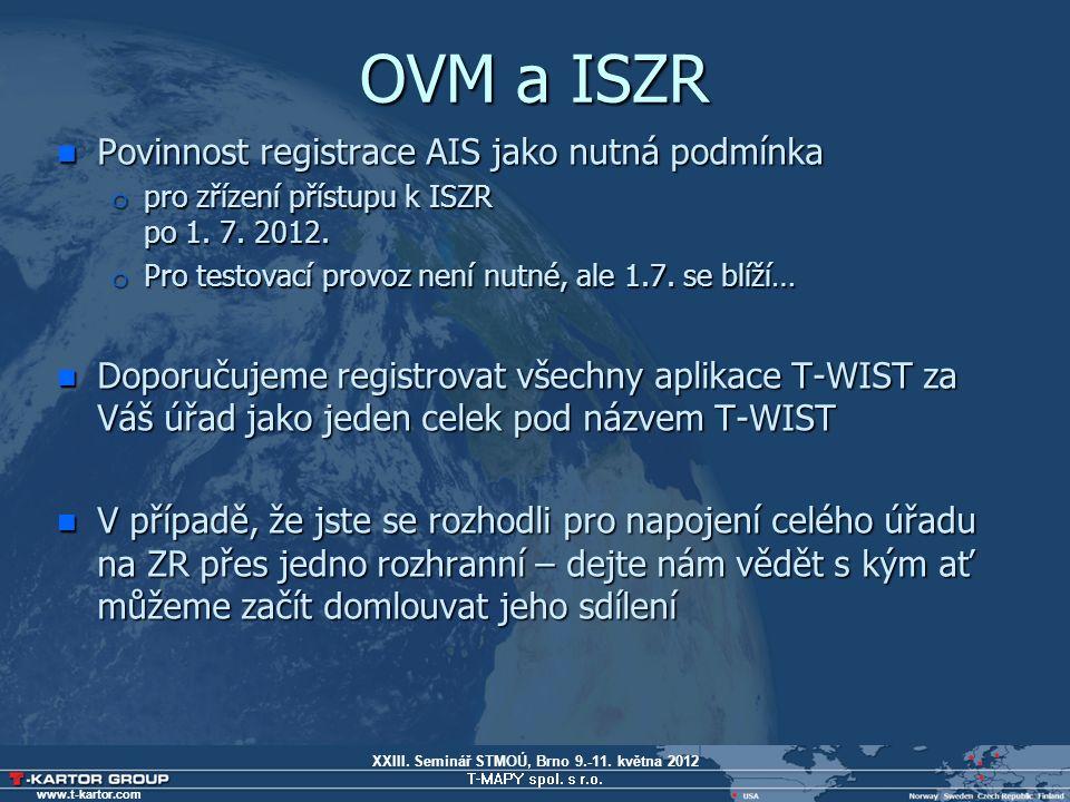 XXIII.Seminář STMOÚ, Brno 9.-11. května 2012 T-MAPY spol.