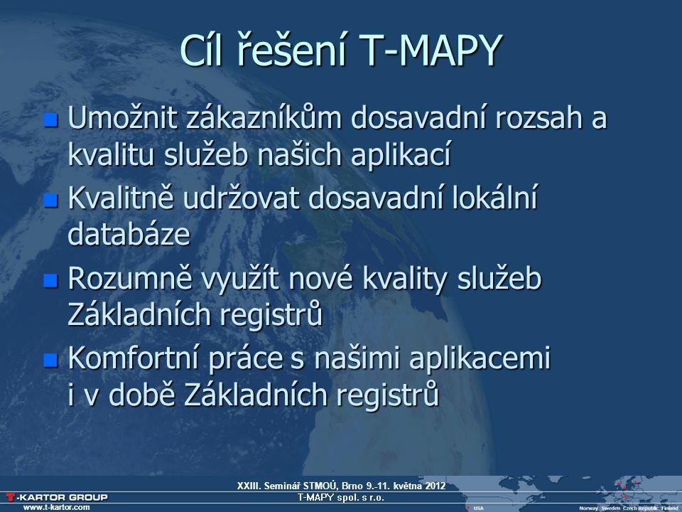 XXIII. Seminář STMOÚ, Brno 9.-11. května 2012 T-MAPY spol. s r.o. www.t-kartor.com DOTAZY ?