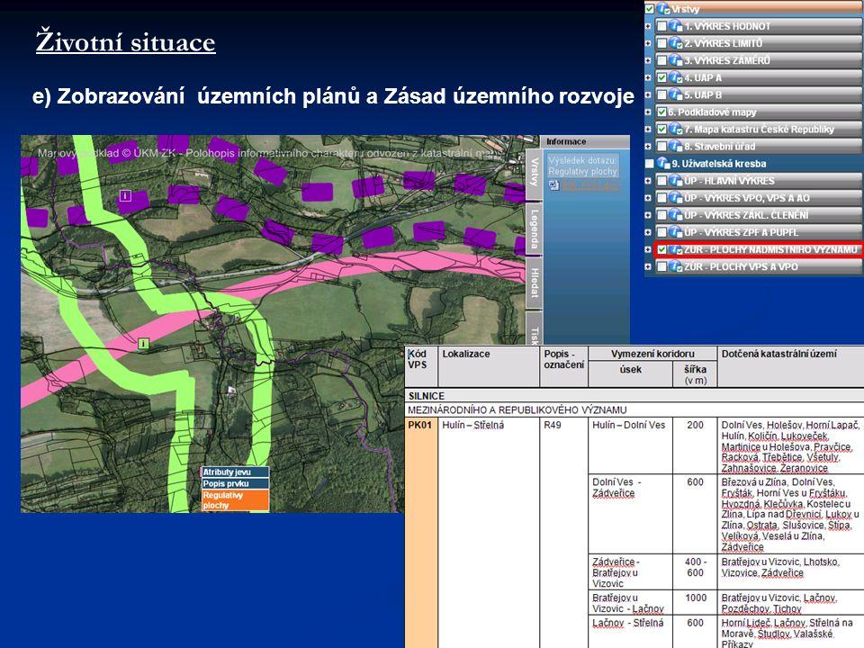 Životní situace e) Zobrazování územních plánů a Zásad územního rozvoje
