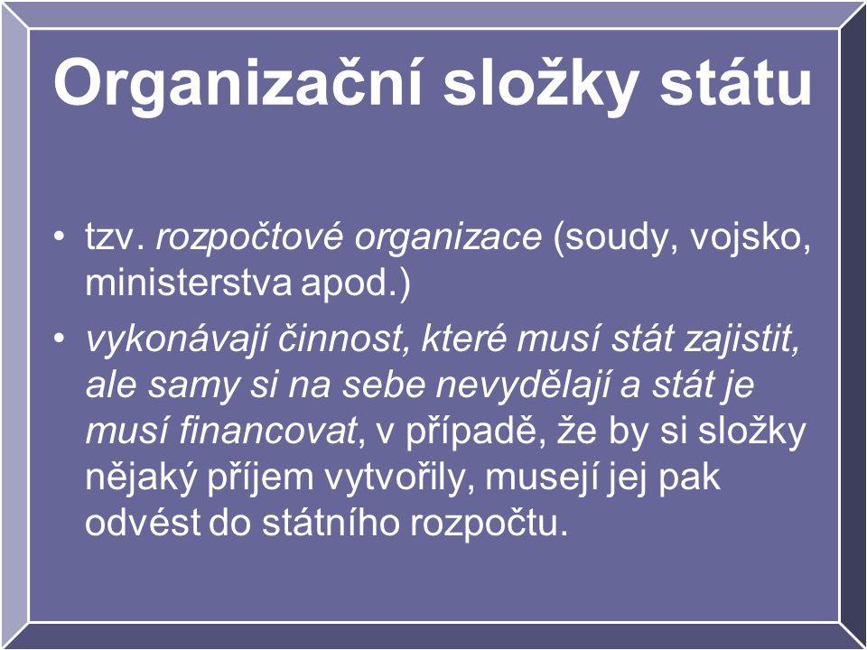 Organizační složky státu tzv.