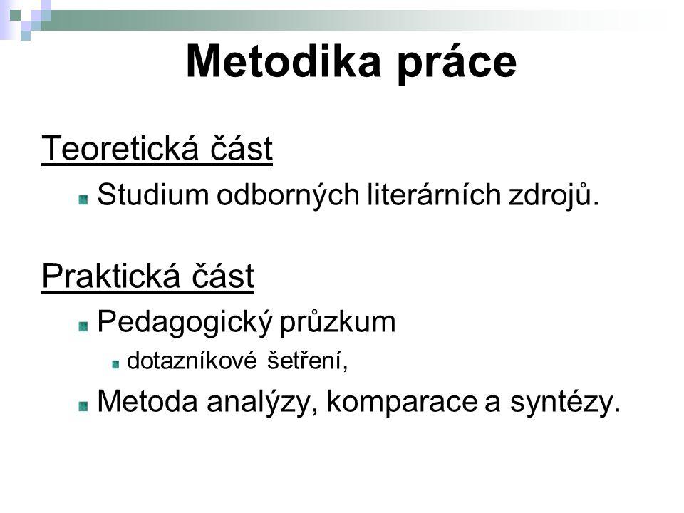 Teoretická část Studium odborných literárních zdrojů.