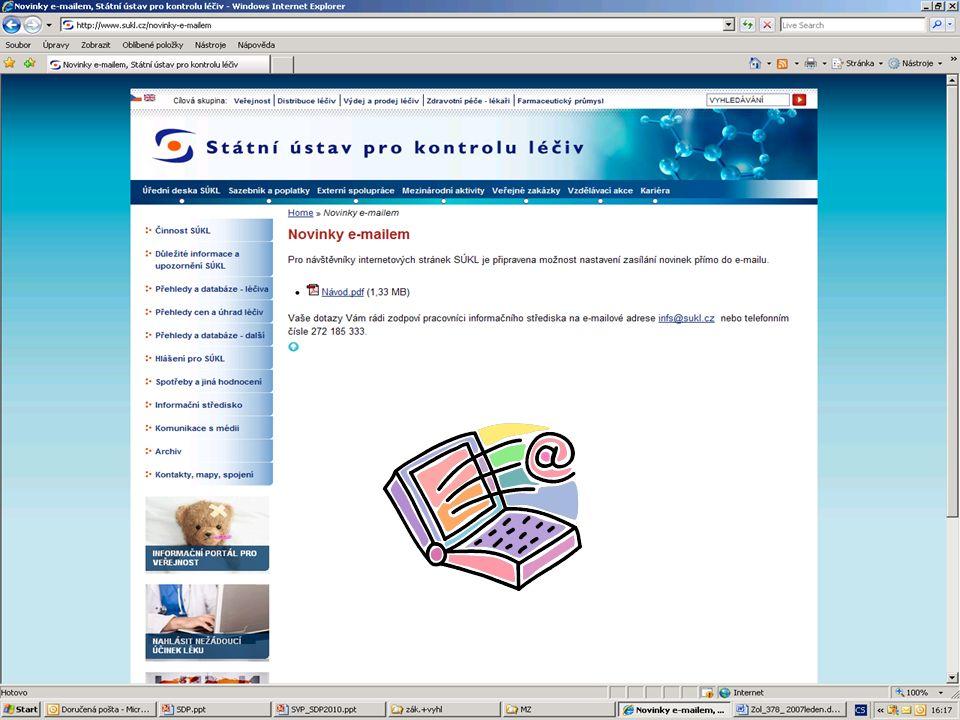 [ 15 ] RNDr. Olga Hanzlíčková © 2010 Státní ústav pro kontrolu léčiv