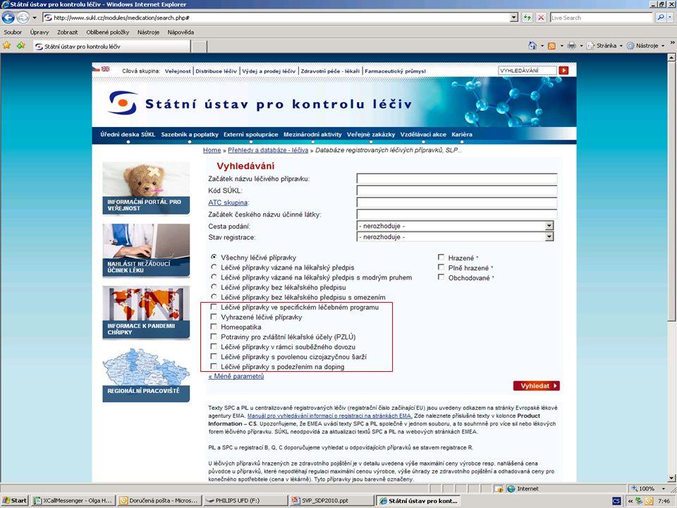 [ 21 ] RNDr. Olga Hanzlíčková © 2010 Státní ústav pro kontrolu léčiv