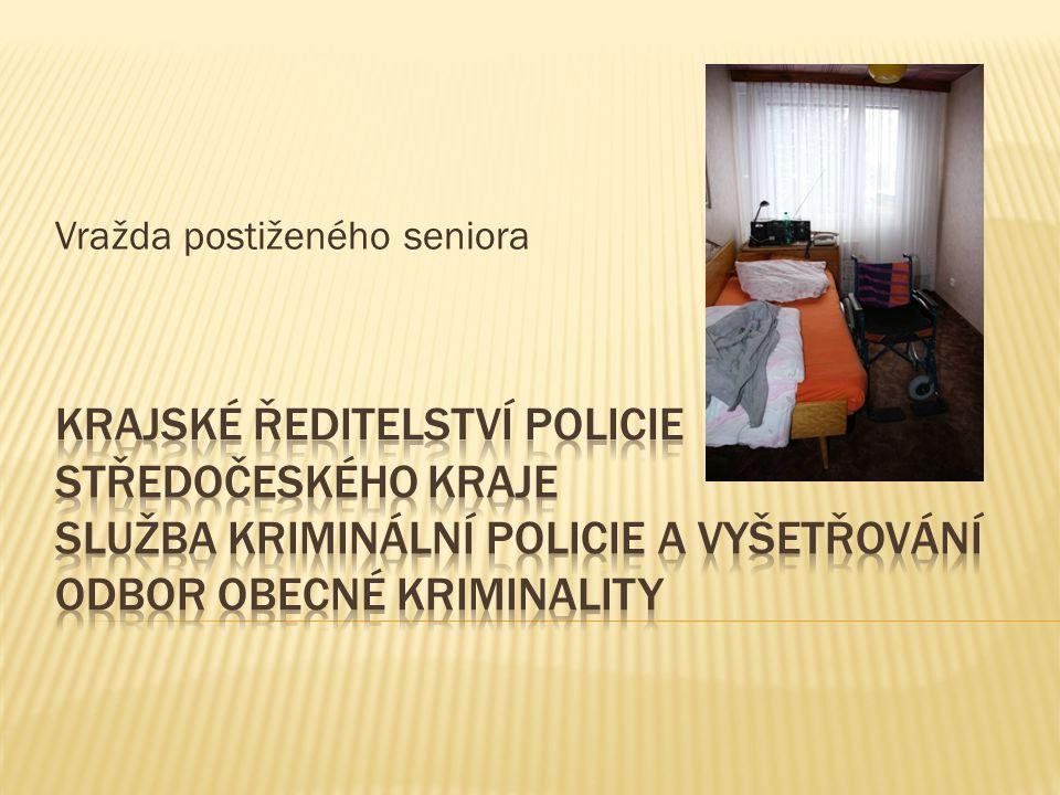 dne 13.02.2013 oznámil pohřešování postiženého seniora z Mladé Boleslavi jeho syn při ohledání bytu poškozeného byla kromě jiného nalezena skvrna na koberci, která vykazovala známky po čištění